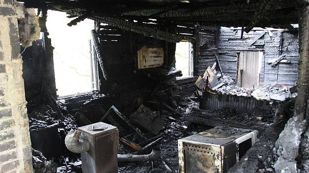 Oheň v dřevěném srubu u řeky Lužnice  způsobil škodu za 700 tisíc korun.