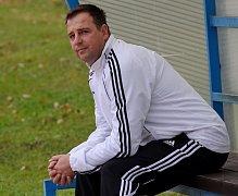 Trenér fotbalistů Spartaku Soběslav Radek Hajič.