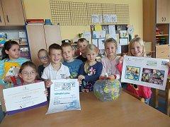 Děti ze školky v Nerudově ulici.