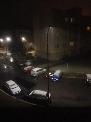 Bechyně déšť se sněhem - 12. 11.