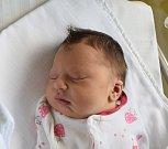 Adriana Streinzová ze Soběslavi.  Poprvé na svět pohlédla 2. dubna v 8.20 hodin.  Po narození vážila 3510 gramů, měřila 49 cm a doma má sestřičku Denisku, které jsou tři roky a tři měsíce.