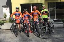 Na společné fotce zleva Richard Šikyňa, Radek Větrovský, Petr Novák a Michal Bednář.
