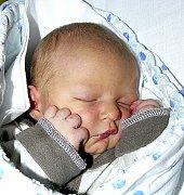 ALEXEJ KOČÍ Z TÁBORA. Narodil se 13. prosince v 16.25 hodin. Vážil 3170 g, měřil 45 cm a má sestru Anetu  (18) a brášku Dominika (7).