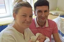 Barbora Boušková z Tábora. Prvorozená dcera rodičů Martiny a Petra poprvé na svět pohlédla 15. května v 15.31 hodin. Vážila 2500 gramů a měřila 46 cm.