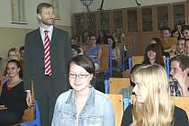 Leoš Javůrek debatoval se studenty o Unii.