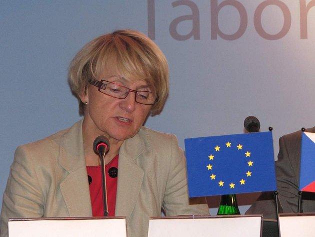 Danuta Hübner zavítala do Tábora