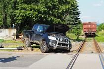 V Táboře se opět srazil vlak s autem, škoda je 670 tisíc korun.