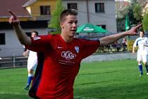 Jakub Rosůlek navázal v utkání s Hlubokou dvěma góly na trefu svého bratra Jindřicha z duelu proti Hradci.