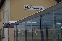 Plánský nádražní podchod.
