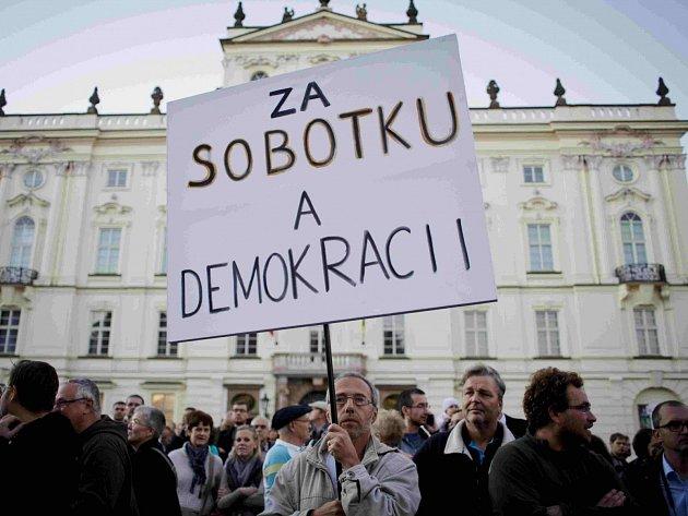 Podpora pro Bohuslava Sobotku.