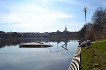 Část Sokolské plovárny zaplavuje každoročně voda.