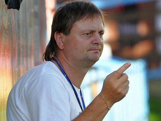 Rozzlobený trenér divizního Spartaku MAS B Milan Škarda.