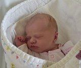 Lucie Kňourková z Veselí nad Lužnicí. Narodila se 11. dubna dvě minuty po čtvrté hodině. Vážila 2800 gramů, měřila 45 cm a doma už má sestřičky Julinku (6) a Zuzanku (3).