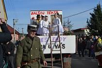 Letos šlo už o 45. ročník tradičních jihočeských maškar, tentokrát na téma Maškarní pouť aneb vesele k volbám.
