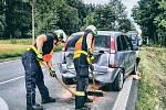 Dopravní nehoda čtyř osobních aut mezi Drhovicemi a Oltyní na Táborsku.