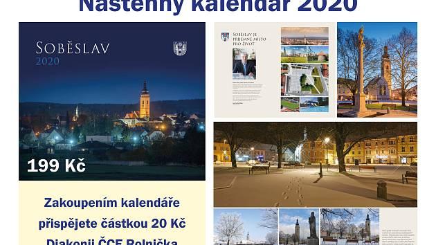 Náhled nového soběslavského kalendáře na rok 2020.