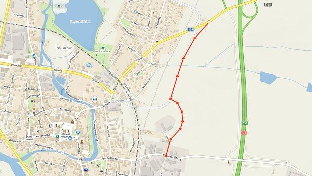 Od neděle 1.listopadu se bude do Soběslavi projíždět od dálnice po části přeložky II/135 a přeložce III/13521.