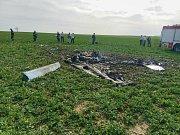 Na Táborsku havarovalo malé letadlo. Dva lidé při nehodě zemřeli.