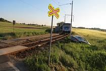 Srážka s vlakem na železničním přejezdu v Táboře-Horkách ze dne 28. června 2019.