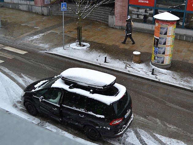 Sníh v březnu.