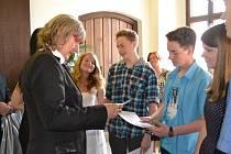 Setkání žáků se starostou Tábora.