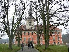 Bechyňský zámek. jeho schody dají už po pětačtyřicáté zabrat běžcům.