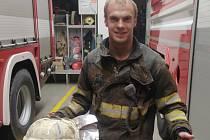 Martin Dvořák si splnil svůj sen a stal se hasičem.