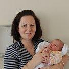 Eva Bočanová v Bechyně. Dcera rodičů Evy a Tomáše se narodila 15. října v 7.27 hodin. Při narození vážila 3250 gramů a měřila 49 cm. Doma ji čekal bráška Lukáš (2,5).