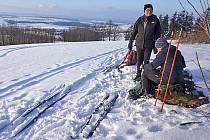 Poslední dny proměnily přírodní park Polánka v obvyklý ráj milovníků bílé stopy.