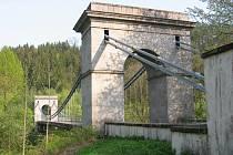 Stádlecký řetězový most.