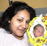 PATRICIE KANDROVÁ Z TÁBORA. Rodičům Tereze a Petrovi se narodila 27. prosince v 8.40 hodin. Vážila 2700 g a měřila 44 cm.