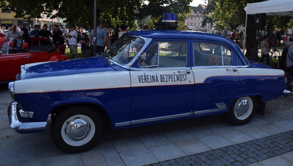 V Soběslavi v sobotu závodila historická vozidla. (Foto: Daniel Pekař)
