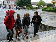 První školní den na soběslavské základní škole.