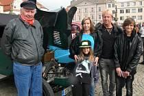 Setkání historických vozidel v Táboře.