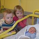 Vít Šerpán z Řevnova. Narodil se 9. ledna v 8.20 hodin. Vážil 3750 gramů, měřil 51 cm a doma už má sestřičku  Nelinku (téměř 4) a brášku Pepíčka (1,5).