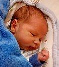 Jakub Javorský ze Sezimova Ústí. Narodil se 27. prosince v 8.14 hodin. Vážil 3760 gramů, měřil 52 cm a doma už má sourozence Evu, Annu a Mirečka.