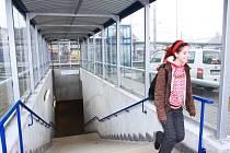 Lidé z Blanického předměstí již mohou využívat část podchodu pod táborským nádražím.