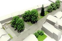 Náměstí Prokopa Chocholouška v Nadějkově oživí nová zeleň i kamenná dlažba a trvalkové záhony. Po rekonstrukci by mělo získat podobu na snímku.