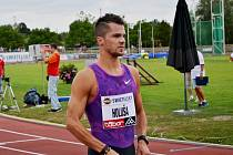 Velká cena Tábora v atletice 2015 - český reprezentant Jakub Holuša.