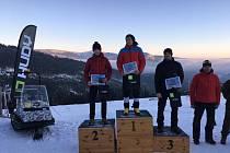 Vítězové kategorie Muži open (zleva Michal Strejc, Radoslav Groh, Marek Jiřička).