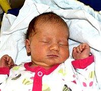 KRISTÝNA JIROUŠOVÁ Z TÁBORA. Narodila se 18. července ve 14 hodin s váhou 3600 a mírou 50 cm. Je prvním dítětem v rodině.