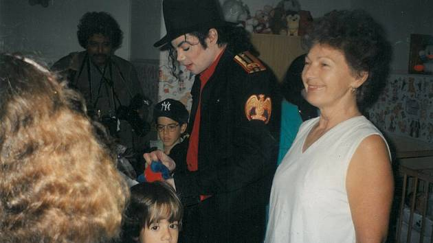 Maria Nedvídková s Michaelem Jacksonem.