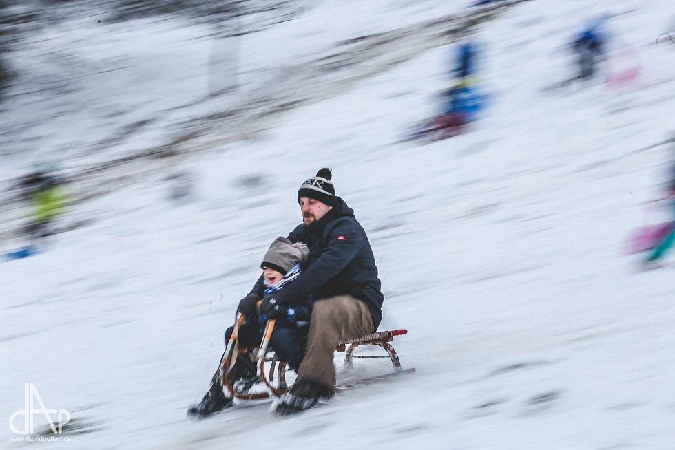 Krása zimy v Táboře, jak ji zachytil fotograf David Peltán.