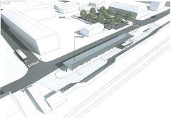 Vizualizace nového terminálu.