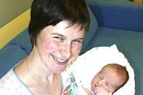 RADEK TESAŘ Z HORNÍCH HOŘIC. Je druhým dítětem v rodině a narodil se 22. října v 1.42 hodin. Vážil 3310 g a měřil rovných 50 cm.