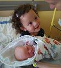 Eliška Hofbauerová z Tábora. Narodila 9. července ve 12.15 hodin. Vážila 3020 gramů, měřila 48 cm a už má téměř tříletou sestřičku Nellu.