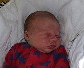 Matěj Plocha z Božetic. Poprvé na svět pohlédl 8. května v 17.33 hodin a je druhým synem v rodině. Po narození vážil 3930 gramů a doma už má tříletého brášku Jonáše.