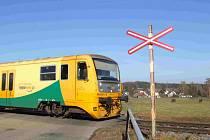 Železniční přejezd. Ilustrační foto
