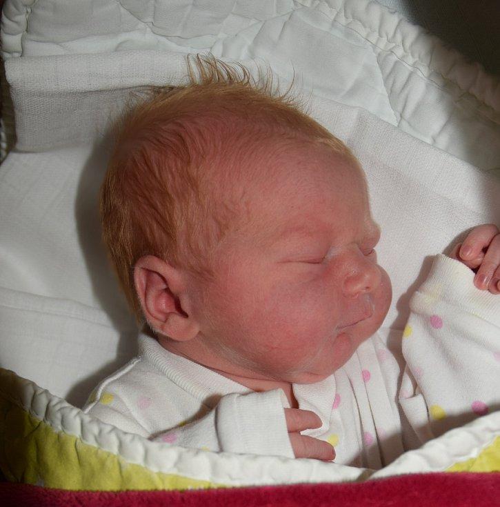 Anna Novotná ze Sezimova Ústí. Na svět přišla 3. července ve 3.35 hodin. Sestřička tříletého Vašíka po narození vážila3600  gramů a měřila 49 cm.