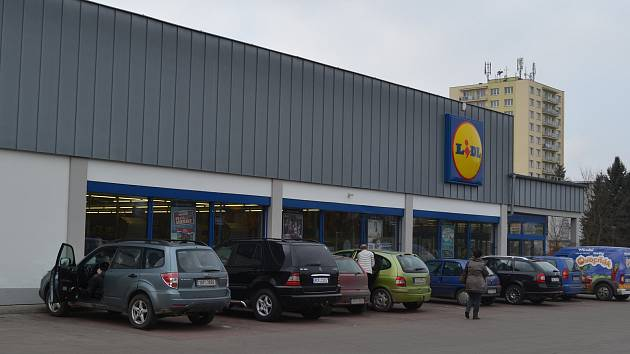 Táborský obchod společnosti Lidl ČR.